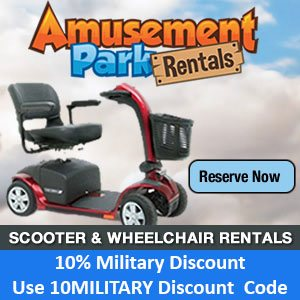 Universal Orlando Military Discounts on Scooters and Wheelchairs