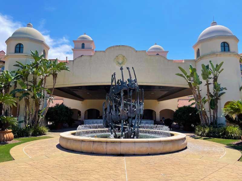 Universal Orlando Resort Hard Rock Hotel Guitar Fountain